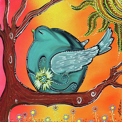 Landscape Painting - Garden Bird by Laura Barbosa