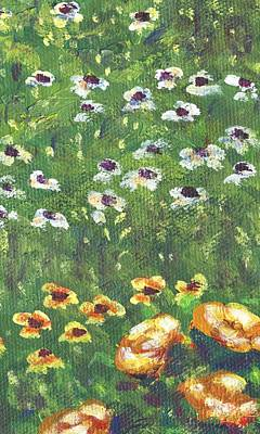 Garden Flowers Painting - Garden Bloom Part B by Linda Mears