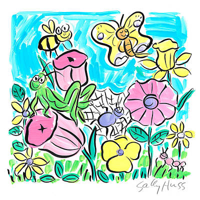 Cricket Drawing - Garden Butterfly by Sally Huss