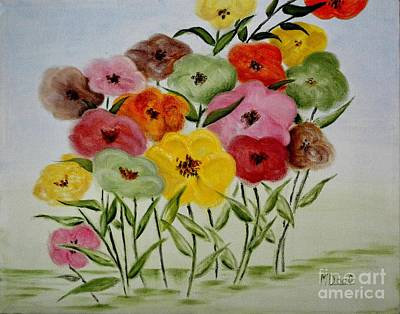 Garden Color Spot Print by Mary Deal