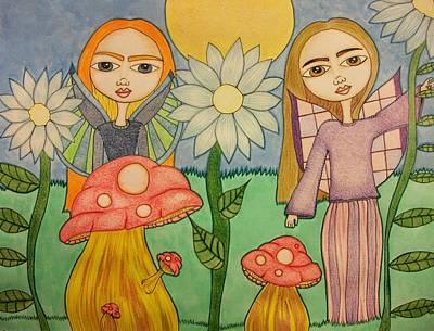 Garden Fairies Original by Alicia Schroeder