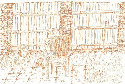Garden Fence  Print by Karen Jane Jones