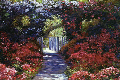 Blooming Painting - Garden For Dreamers by David Lloyd Glover