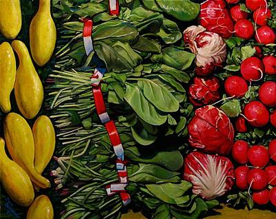 Spinach Painting - Garden Fresh by Doug Strickland