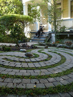 Photograph - Garden Labyrinth by Live Wire Spirit