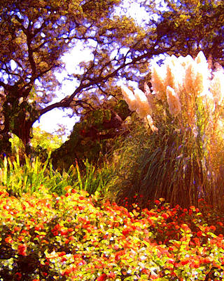Landscape Painting - Garden Landscape by Amy Vangsgard
