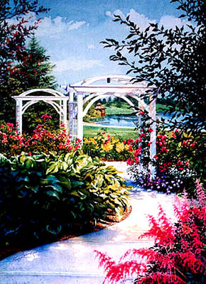 Gazebo Painting - Garden Path by Hanne Lore Koehler