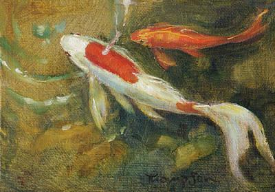 Garden Pond Goldfish 2 Original by Tracie Thompson