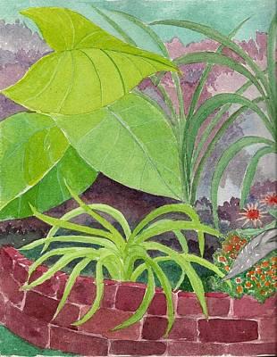 Garden Scene Mixed Media - Garden Scene 9-21-10 by Fred Jinkins