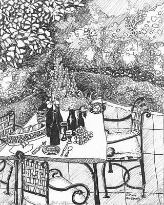 Garden Table Original by Jo Anna McGinnis