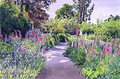 Garden Walk Print by David Lloyd Glover