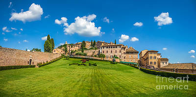 Town Photograph - Gardens Of Assisi by JR Photography