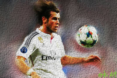 Cristiano Ronaldo Mixed Media - Gareth Bale  by Enki Art
