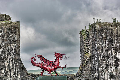 Photograph - Gareth The Dragon 1 by Steve Purnell