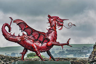 Photograph - Gareth The Dragon 2 by Steve Purnell