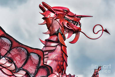 Photograph - Gareth The Dragon 5 by Steve Purnell