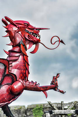 Photograph - Gareth The Dragon 6 by Steve Purnell