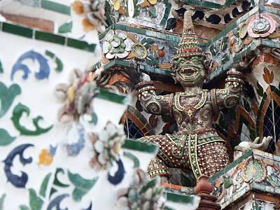 Buddha Photograph - Gargoyle At Wat Pho Temple by Ian Scholan