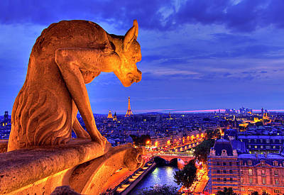 Notre Dame Photograph - Gargoyle De Paris by Traumlichtfabrik