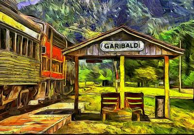 Garibaldi Oregon Train Depot Print by Thom Zehrfeld