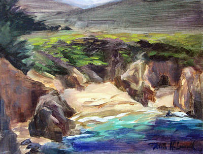 Iconic Painting - Garrapata Beach, Big Sur by Karin Leonard