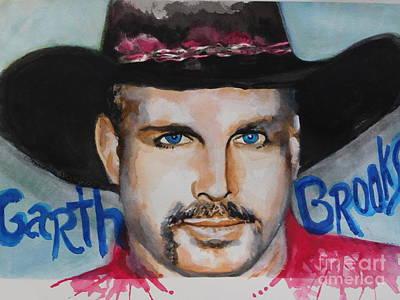 Garth Brooks Print by Chrisann Ellis