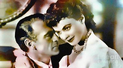 Gary Cooper And Ingrid Bergman Print by Ian Gledhill