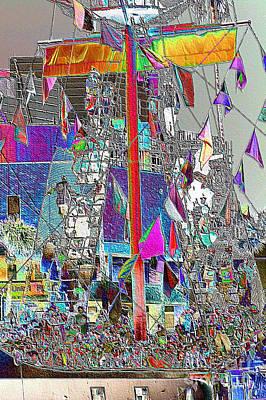 Pirate Ship Digital Art - Gasparilla Pirates Invade Tampa by Carol Groenen