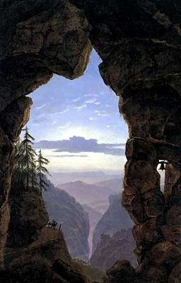 Gate In The Rocks  Original by Karl Friedrich Schinkel