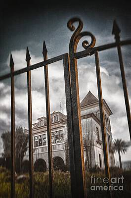 Gate To Haunted House Print by Carlos Caetano