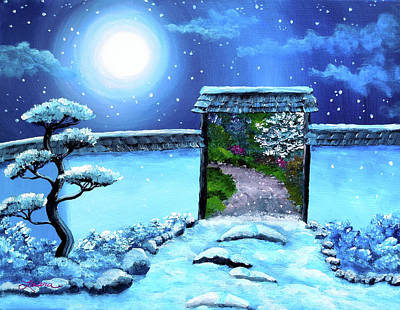 Gate To Spring Original by Laura Iverson