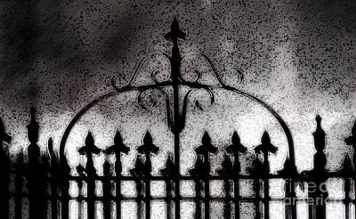 Haunted Digital Art - Gated by Linda Knorr Shafer