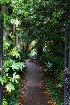 Old Photograph - Gated Path by J Darrell Hutto