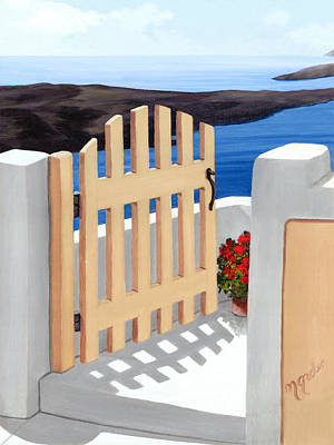 Vertical Painting - Gateway To The Sea by Mary Grden's Baywood Gallery