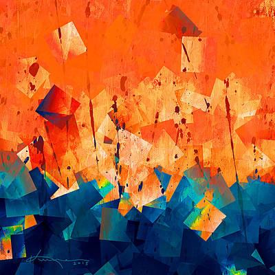 Mosaic Mixed Media - Gathering Of The Squares 3 by Kume Bryant