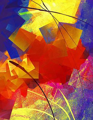 Mosaic Mixed Media - Gathering Of The Squares 4 by Kume Bryant