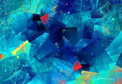 Mosaic Mixed Media - Gathering Of The Squares by Kume Bryant