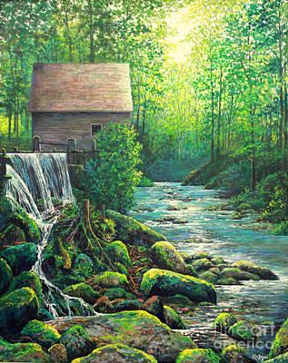 Gatlinburg  Tenessee Mill Print by Lou Ann Bagnall
