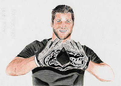 Tim Tebow Mixed Media - Gator Blood by Jenna McMullins