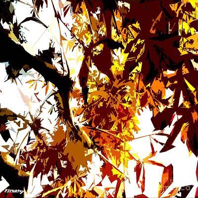 Gazing Into The Autumn Trees Print by Patrick J Murphy