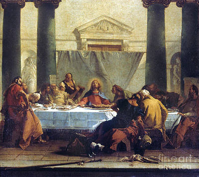 G.b. Tiepolo: Last Supper Print by Granger