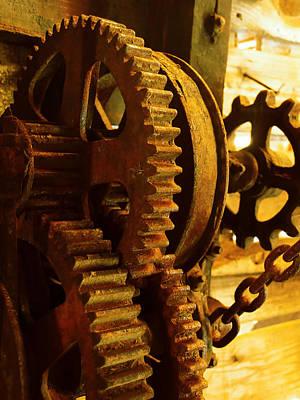 Gearwheel..machinery Print by Tom Druin