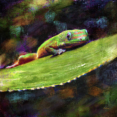 Gecko Painting - Gecko by Chuck Underwood