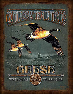 Geese Painting - Geese Traditions by JQ Licensing