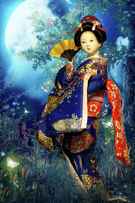 Vertical Photograph - Geisha - Combining Innocence And Sophistication by Christine Till