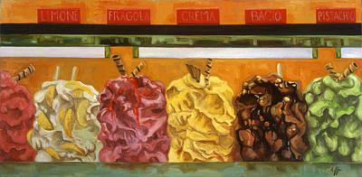Florence Painting - Gelati Gelati Gelati by Jennie Traill Schaeffer