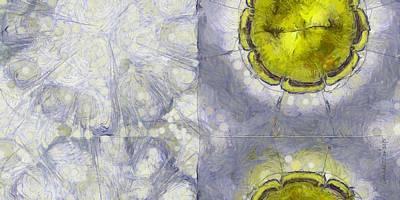 Different Ideas Painting - Gelations Rhythm Flower  Id 16164-234704-72840 by S Lurk