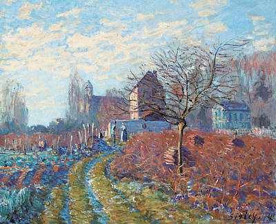 Garden House Painting - Gelee Blanche by Alfred Sisley