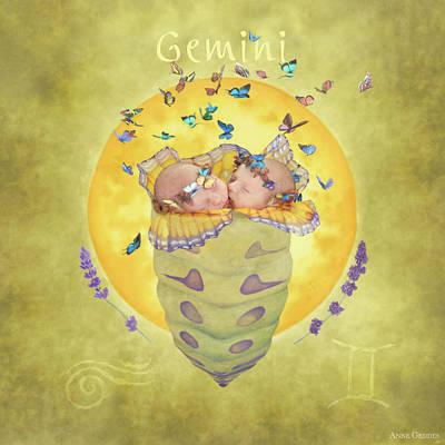 Zodiac Photograph - Gemini by Anne Geddes