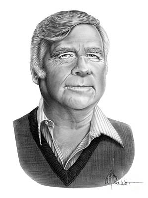 Famous People Drawing - Gene Roddenberry by Murphy Elliott